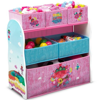 Trolls World Tour Design and Store 6 Bin Toy Organizer - Delta Children
