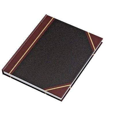 "MyOfficeInnovations Black Record Book 10-7/16"" x 8-3/8"" (18658/26510) 217695"