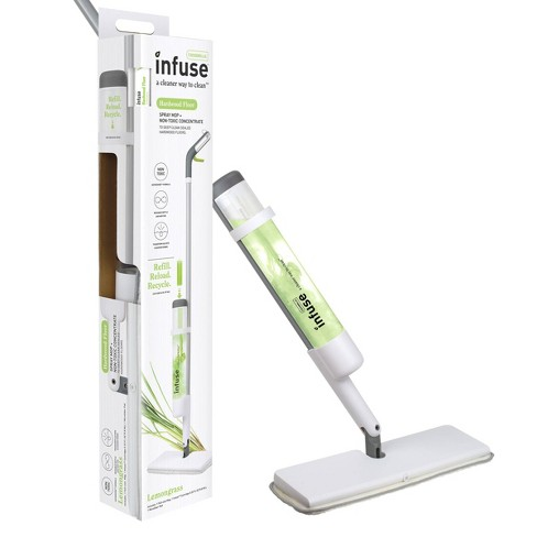 Casabella Infuse Hardwood Floor Spray Mop Kit - 1 Mop 1 Reusable Mop Pad 1 Floor Cleaner Concentrate - Lemongrass - image 1 of 4