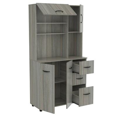 Kitchen/Microwave Storage Cabinet Smoke Oak - Inval