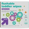 Toddler and Family Flushable Unscented Wipes - 432ct - Up&Up™ - image 3 of 8