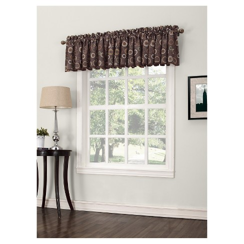 "Capella Rod Pocket Room Darkening Valance (54""x18"") Sun Zero - image 1 of 2"