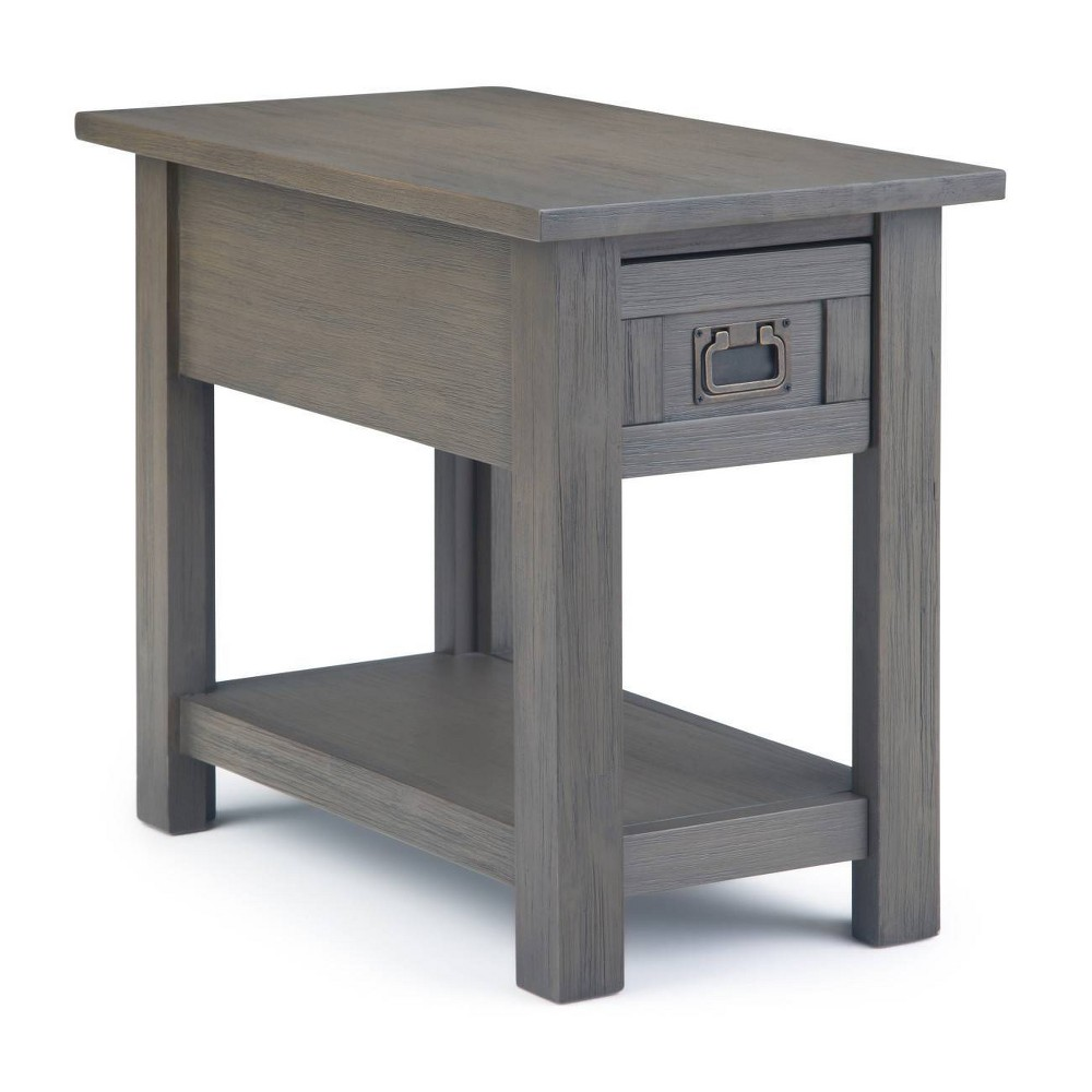 "Image of ""14"""" Garret Narrow Side Table Gray - Wyndenhall"""