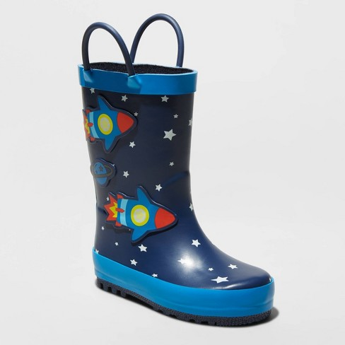 Toddler Boys' Jalil Rain Boots - Cat & Jack™ Navy - image 1 of 3