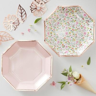 Floral Print Disposable Plate