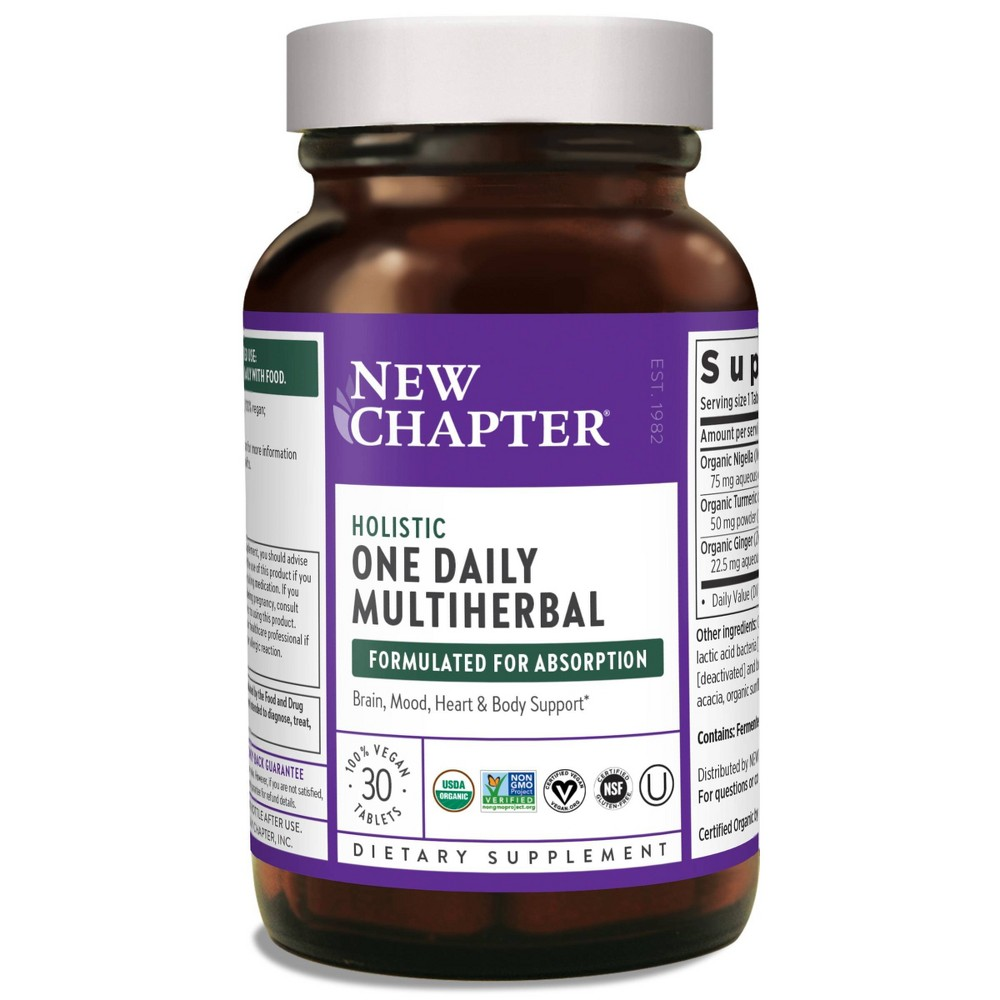 New Chapter Holistic One Daily Multiherbal Tablet 30ct