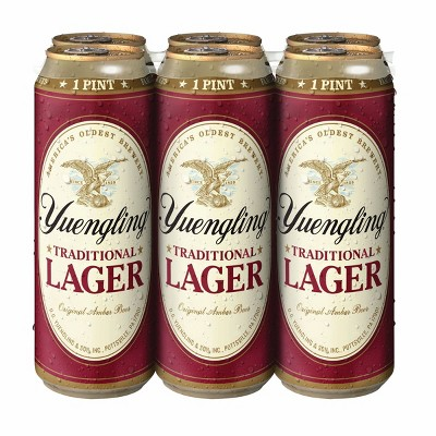 Yuengling Traditional Lager Beer - 6pk/16 fl oz Cans