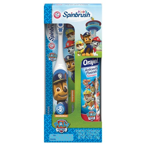 Paw Patrol Spinbrush Toothbrush And Paste Combo Pack - image 1 of 1