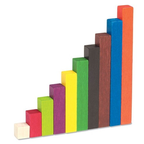Learning Resources Cuisenaire Rods Small Gr Wood, Common Core, Math, Ages 4+ - image 1 of 3