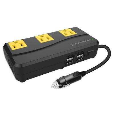 Scosche 200W Portable Power Inverter with 4 USB ports Black