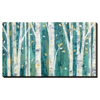 Birches In Spring By Julia Purinton Stretched Canvas Print - Art.Com