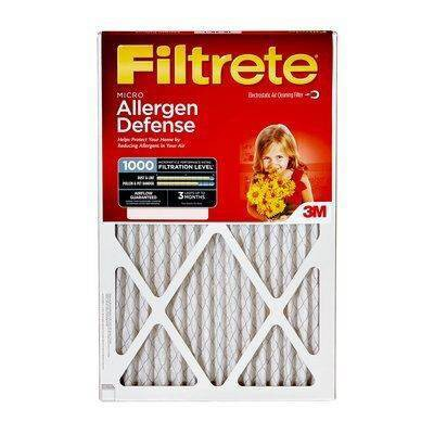 "Filtrete 20""x25""x1"" Micro Allergen Air Control Filter"
