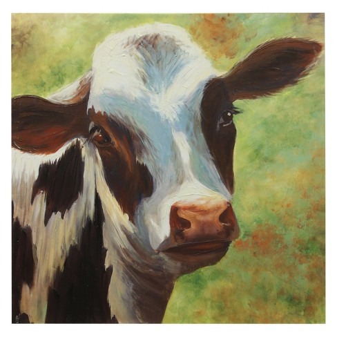 "40"" Norma The Cow Print Stretched Canvas Decorative Wall Art - StyleCraft - image 1 of 1"