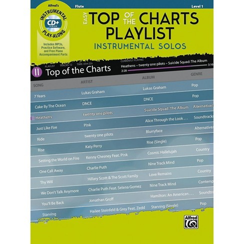 Alfred Easy Top of the Charts Playlist Instrumental Solos Flute Book & CD Level 1 - image 1 of 1