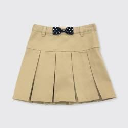 Girls' Stretch Uniform Twill Skorts - Cat & Jack™ Beige