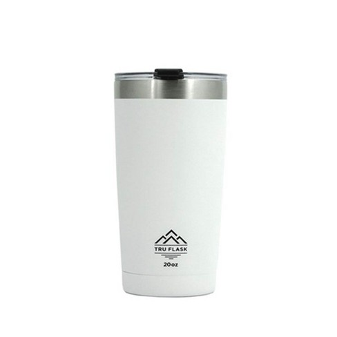 TruFlask 20 oz Stainless Steel Double Wall Insulated Travel Mug Tumbler, White - image 1 of 1