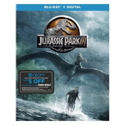 Jurassic Park III + Atom Tickets Offer (Blu-ray)