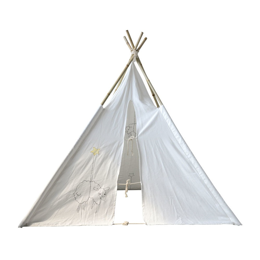 "Image of ""63"""" x 51"""" Decorative Cotton Tent White - 3R Studios"""