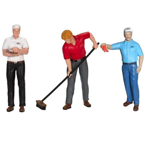 Ford Cervice Center (1965) 3 Piece Figure Set 1/18 by Motorhead Miniatures - image 1 of 1