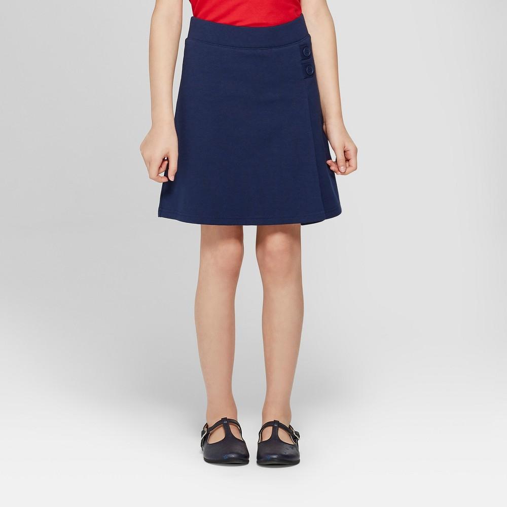 Image of Girls' Knit Uniform Skort - Cat & Jack Navy M, Girl's, Size: Medium, Blue