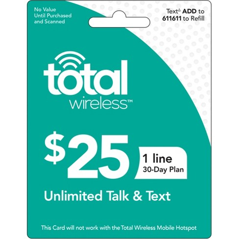 Total Wireless Unlimited Talk Text (One Line) $25 (Email Delivery) - image 1 of 1