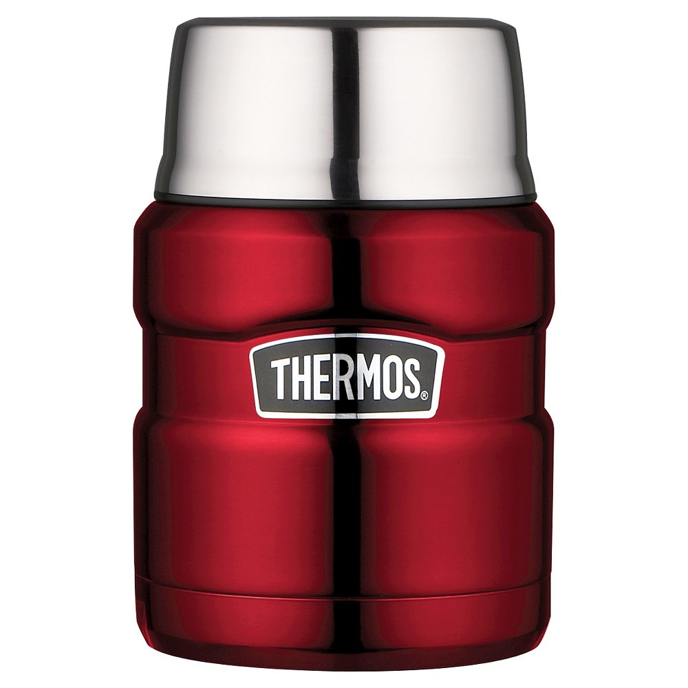 Thermos Stainless King Food Jar - Red (16oz)