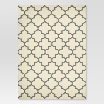 5'x7' Quatrefoil Design Area Rug Cream - Threshold™