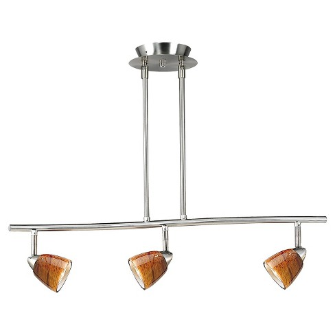Cal Lighting Brushed Steel finish Metal Serpentine Pendant with 3 Adjustable heads - image 1 of 1