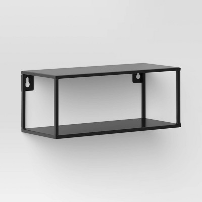 Metal Double Wall Shelf Black - Project 62™