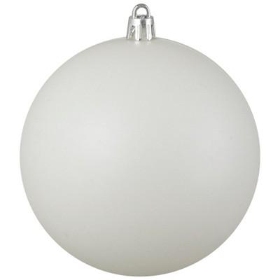 """Northlight 4"""" Shatterproof Matte Christmas Ball Ornament - White"""