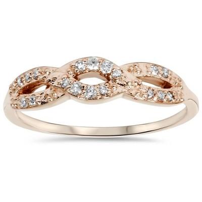 Pompeii3 1/5ct Diamond Infinity Ring 14k Rose Gold