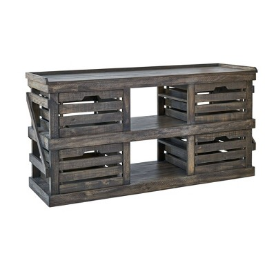 Trenton Media Chest Distressed Brown - Picket House Furnishings