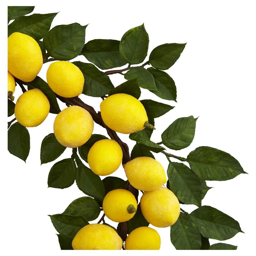 Lemon Wreath (24) - Nearly Natural, Yellow