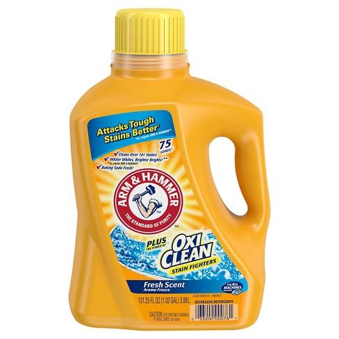 Arm & Hammer Plus OxiClean Fresh Scent Liquid Laundry Detergent  75 Loads (131.25 oz) - image 1 of 3