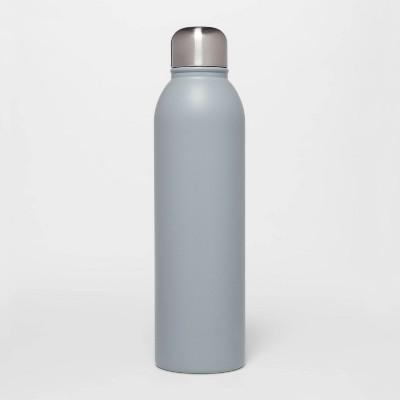 17oz Stainless Steel Water Bottle Matte Gray - Room Essentials™