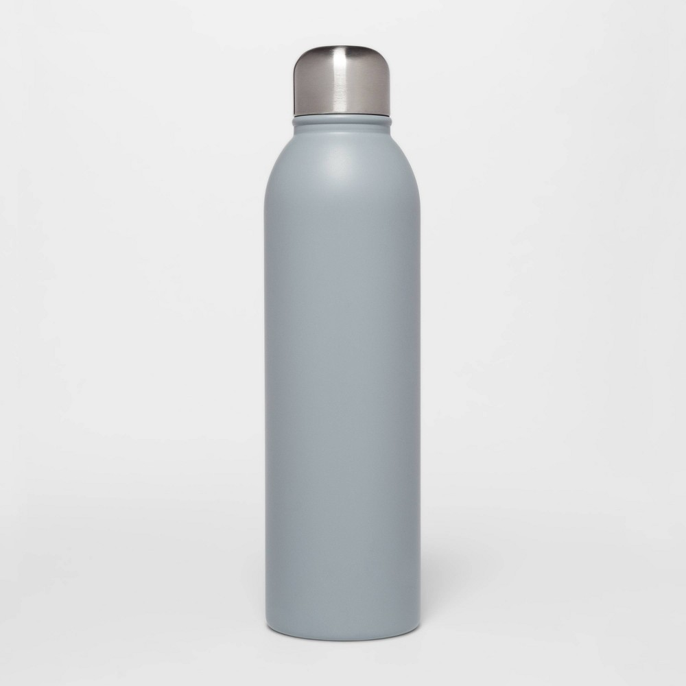 Image of 17oz Stainless Steel Water Bottle Matte Gray - Room Essentials