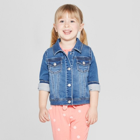e266091db Toddler Girls' Jean Jacket - Cat & Jack™ Blue : Target