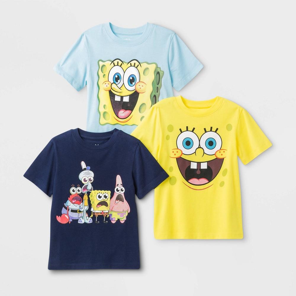 Toddler Boys 39 Nickelodeon Spongebob 3pk Graphic T Shirt 5t