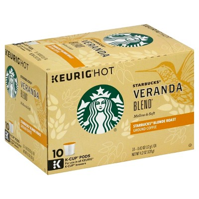 Starbucks Veranda Blend Light Roast Coffee - Keurig K-Cup Pods - 10ct