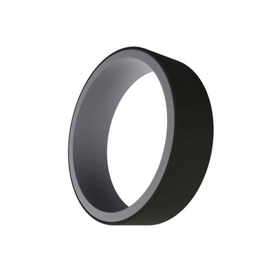 QALO Men's Switch Silicone Ring - Gray and Black Size 10