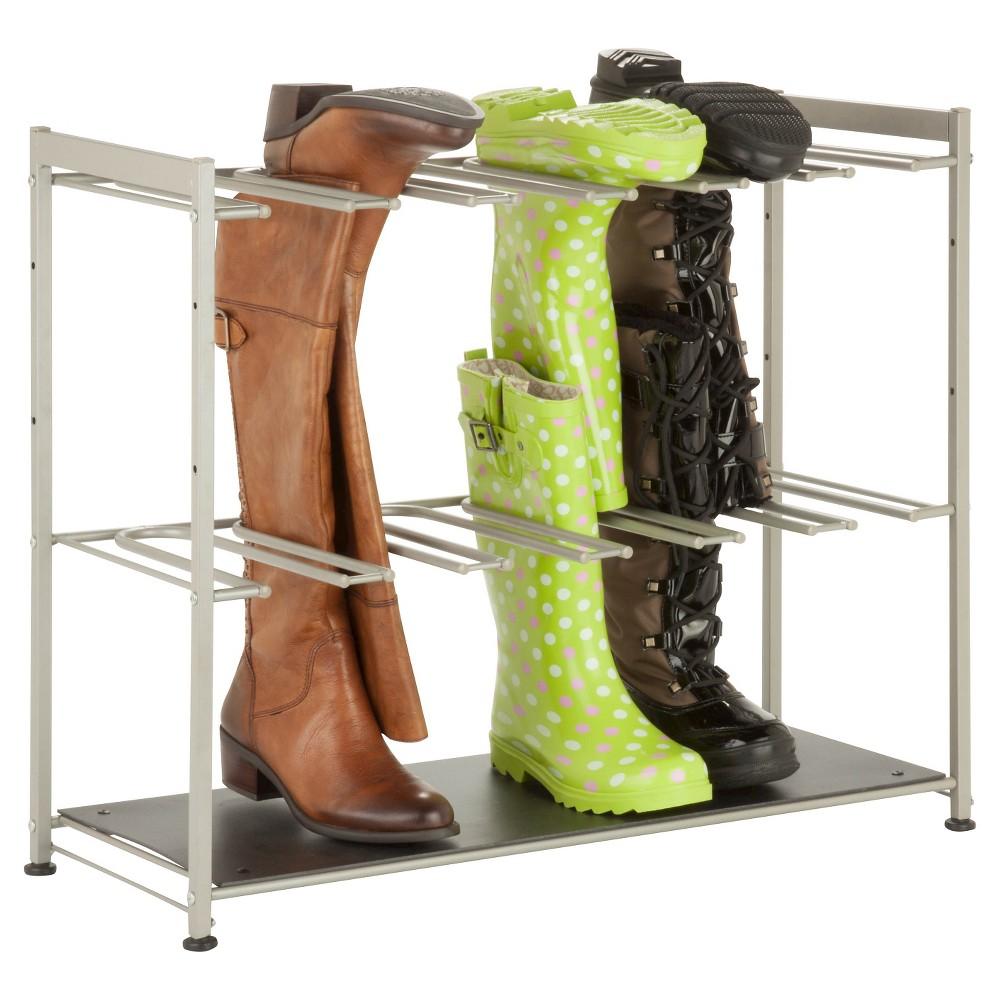Honey-Can-Do 6 Pair Boot Rack - Gray