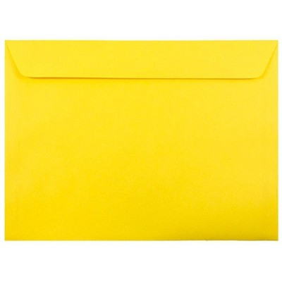 JAM Paper 50pk 9 x 12 Booklet Envelopes - Yellow Recycled