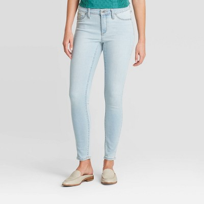 Women's Mid-Rise Jeggings - Universal Thread™ Light Wash