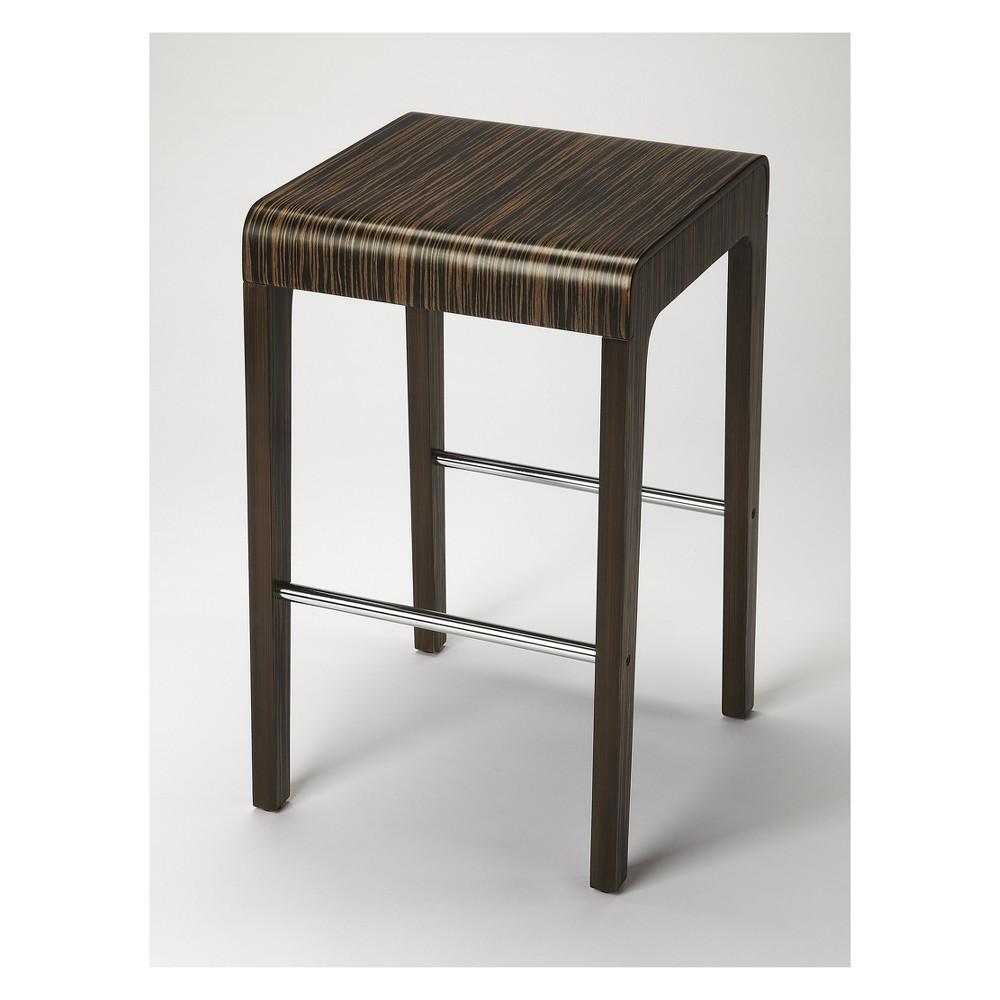 Butler Specialty Blach Zebrawood Counter Stool Butler Loft