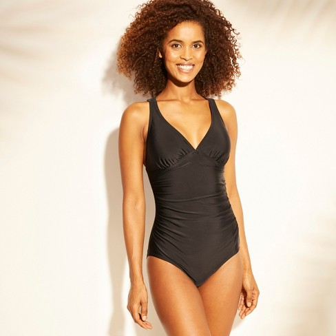 858c9adda9000 Women s Tall Long Torso Strappy Back One Piece Swimsuit - Kona Sol ...