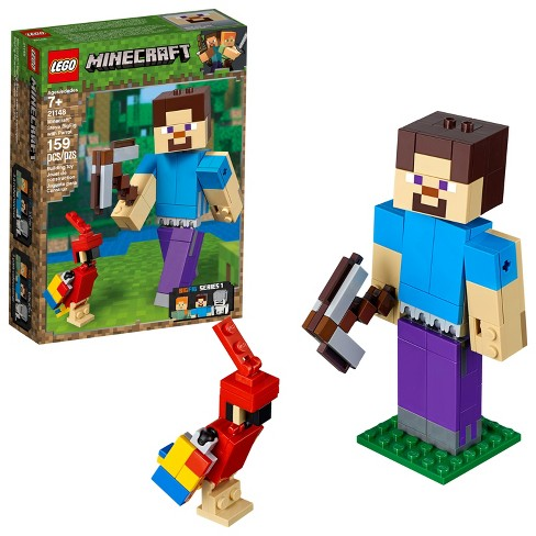 LEGO Minecraft Steve BigFig with Parrot 21148 - image 1 of 4