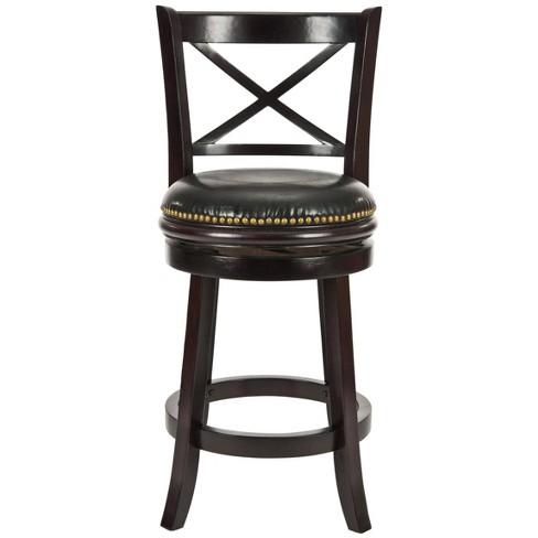 Tremendous Counter And Bar Stools Cappuccino Black Safavieh Lamtechconsult Wood Chair Design Ideas Lamtechconsultcom
