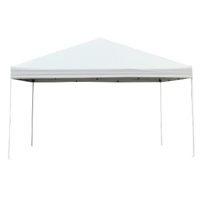 Outsunny 13' x 13' Pop Up Canopy Party Tent with 3-Level Height Adjustable Easy Setup/Takedown & Carry Bag-White