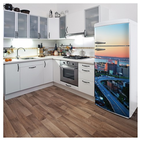 The City Awakes Fridge Wall Decal - image 1 of 1