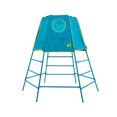 TP Toys Explorer 2 Climbing Set Jungle Gym with Platform and Tent - Blue